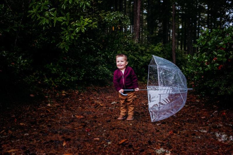 Children Photography - Children Photographer - Boy with umbrella