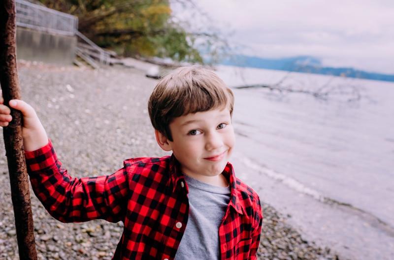 Children Photography - Children Photographer - Boy by the water