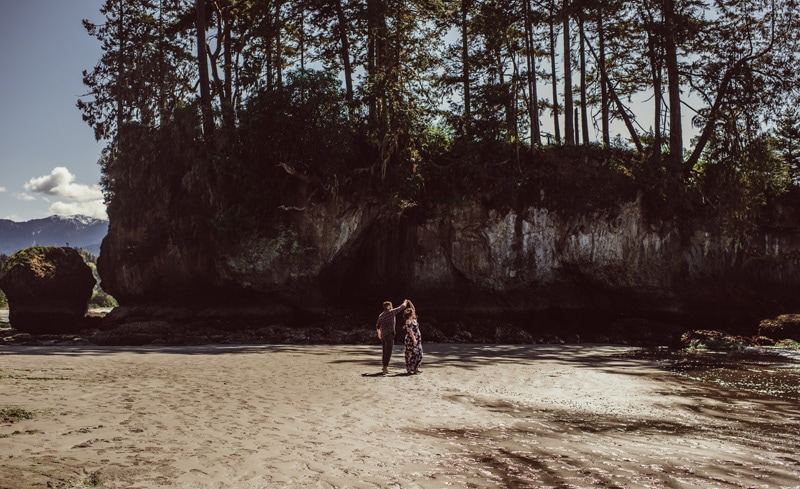 Maternity Photography - Maternity Photographer - Husband and Wife dancing on the sand