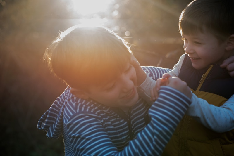 Children Photography - Children Photographer - Boys playing with each other