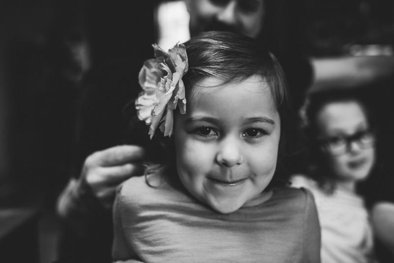Children Photography - Children Photographer - Little girl with flower in her hair