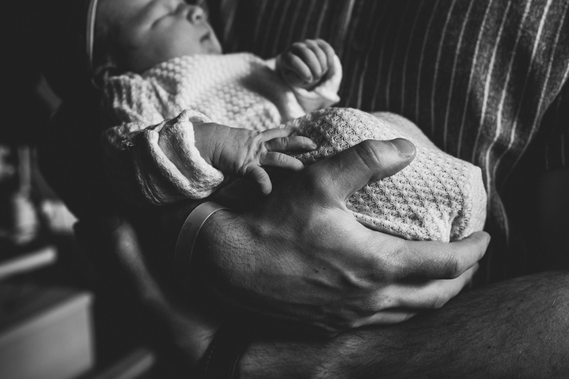 Fresh 48 Photographer, Fresh 48 Photography Memories, black and white close up of baby snuggled up in a blanket